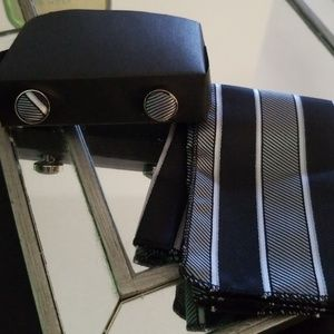 Other - Matching Cuff Links and Pocket Square NWOT
